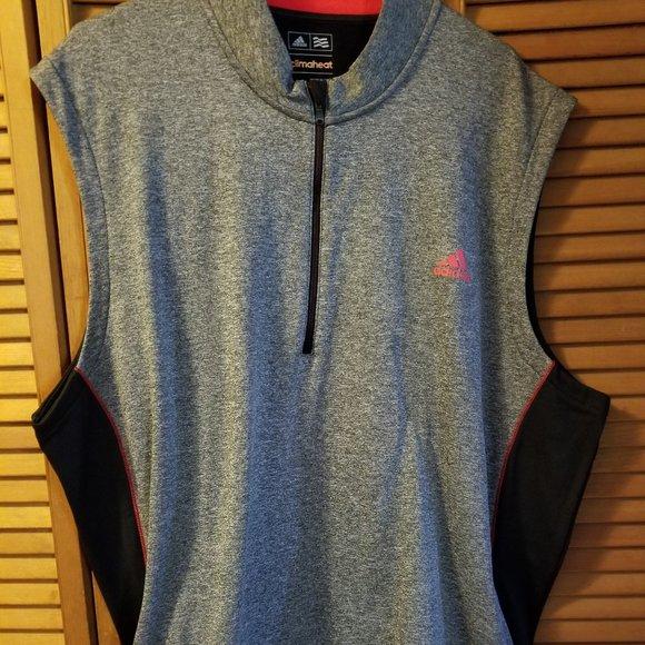 Adidas vest men's size XXL black-gray climate heat